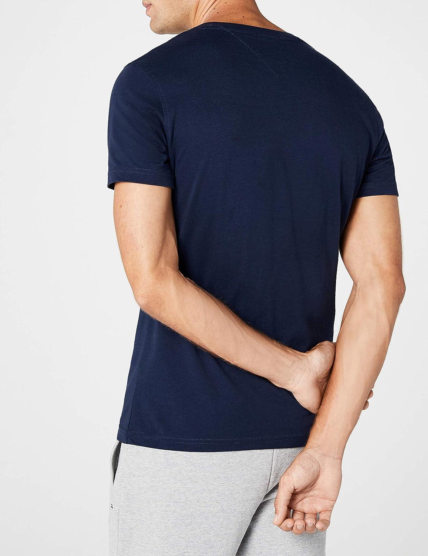 49adeec4 Tommy Jeans Men's Original V-Neck Short Sleeve T-Shirt: Amazon.co.uk:  Clothing