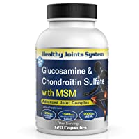 Healthy Joints System Glucosamine Chondroitin MSM Supplement for Joint and Bone Health - 120 Tablets