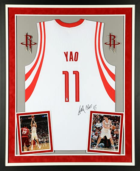 new concept 4c9c4 7906e Amazon.com: Yao Ming Houston Rockets Deluxe Framed ...