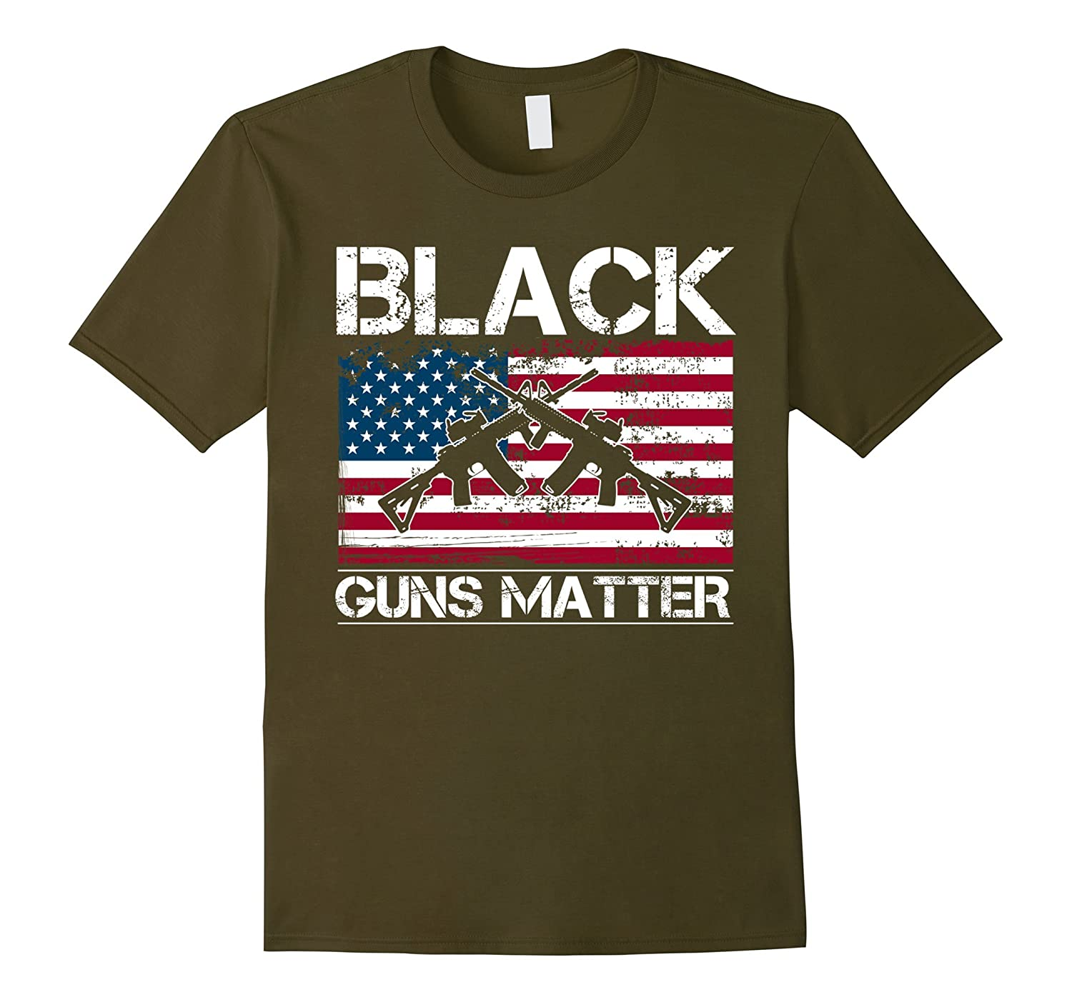Black Guns Matter NRA AR-15 T-Shirt-BN