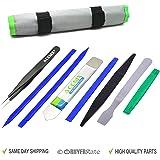 ACENIX® Kit de réparation d'ouverture Pry outil avec non abrasif nylon Spudgers et pince à épiler antistatique [professionnel Lot de 9outils en kit Sac]