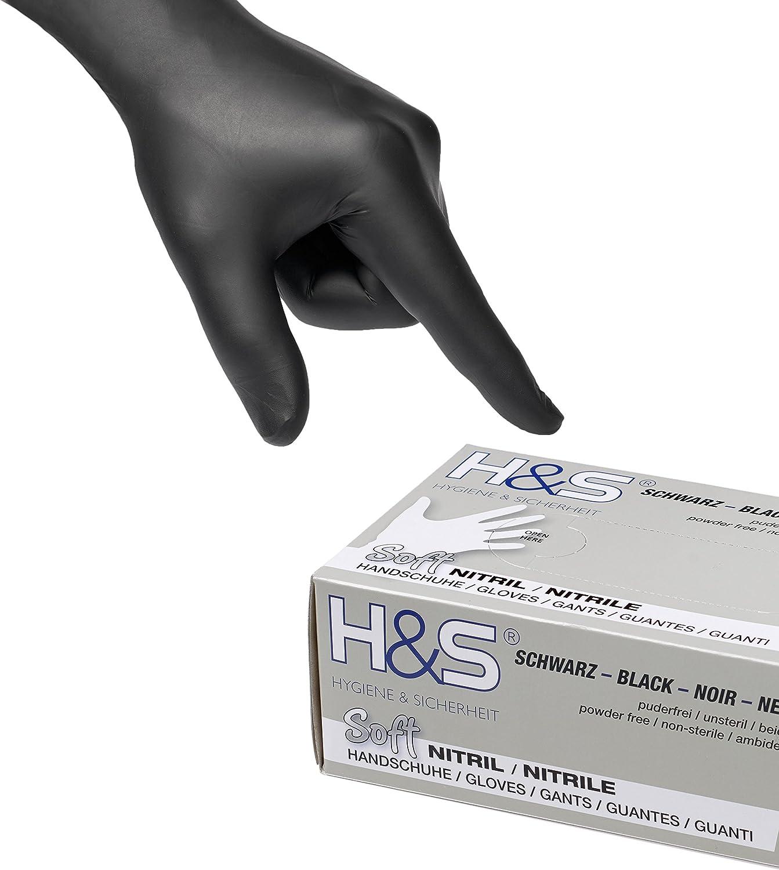senza lattice S Small M Medium L Large XL X-Large per uso alimentare bianco, S senza polvere Guanti al Nitrile ambidestro scatola da 100 guanti