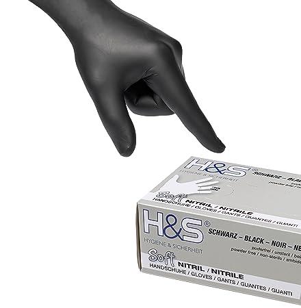 100 Nitrilhandschuhe Gr. L/9, schwarz, Einweghandschuhe, Einmalhandschuhe