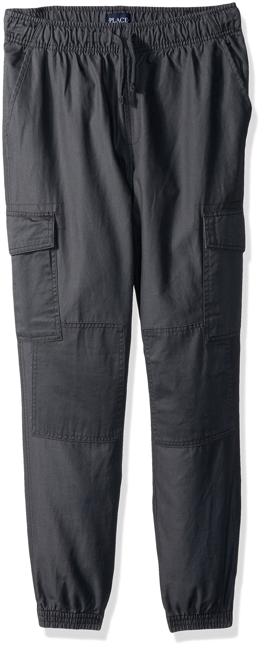 The Children's Place Big Boys' Cargo Jogger, Gray Steel, 10