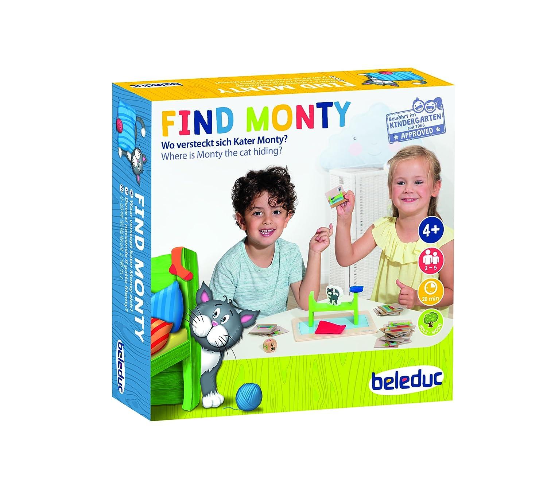 Beleduc 22411Find Monty Chat de Jeu pour Enfants, Multicolore