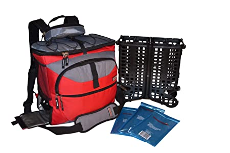 TrackPack Drink Dispensing Backpack Cooler – Red
