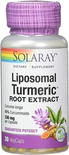 Solaray Liposomal Turmeric Root Extract, White, 30 Count