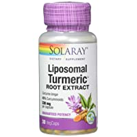 Solaray Guaranteed Potency Liposomal Turmeric Root Extract Non GMO, Veg Cap (Btl-Plastic...