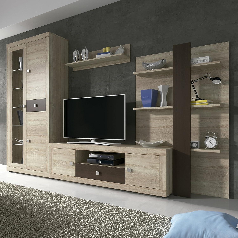Muebles Bonitos - Mueble de salon modelo Acosta color sonoma con ...