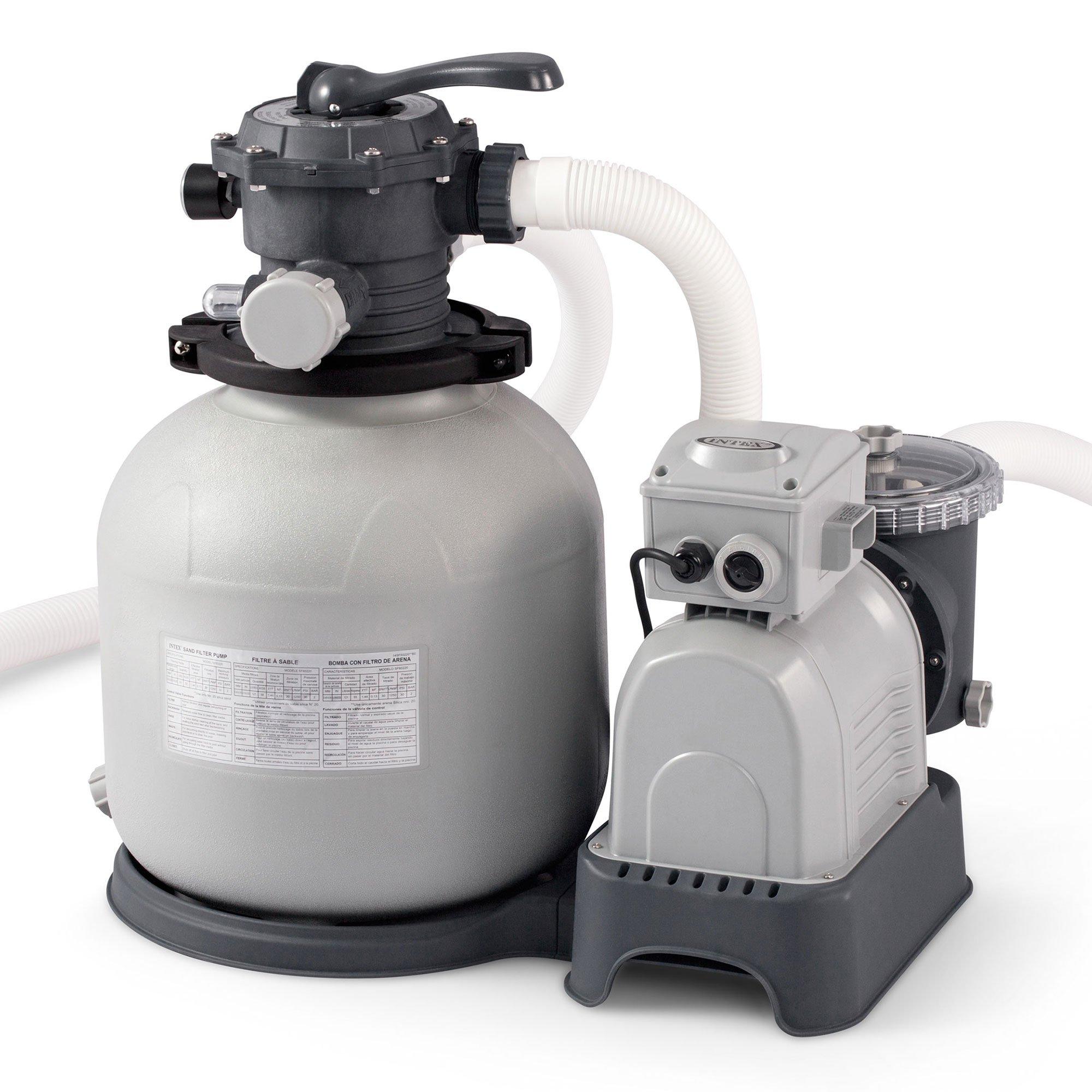 Amazon.com : Intex 3, 000-Gallon Sand Filter Pump : Swimming Pool Water  Pumps : Garden & Outdoor