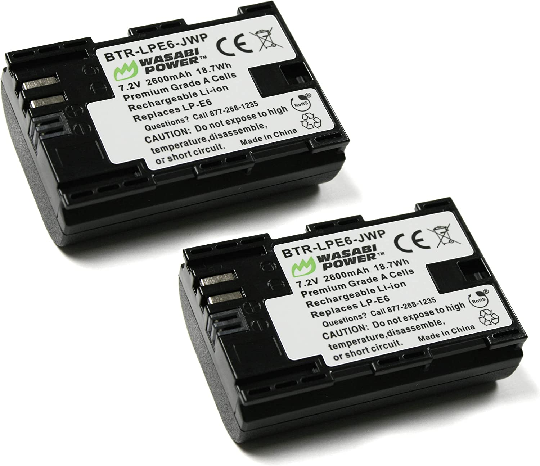 Wasabi energía de la batería y cargador para Canon LP-E6, LP-E6 N: Amazon.es: Electrónica
