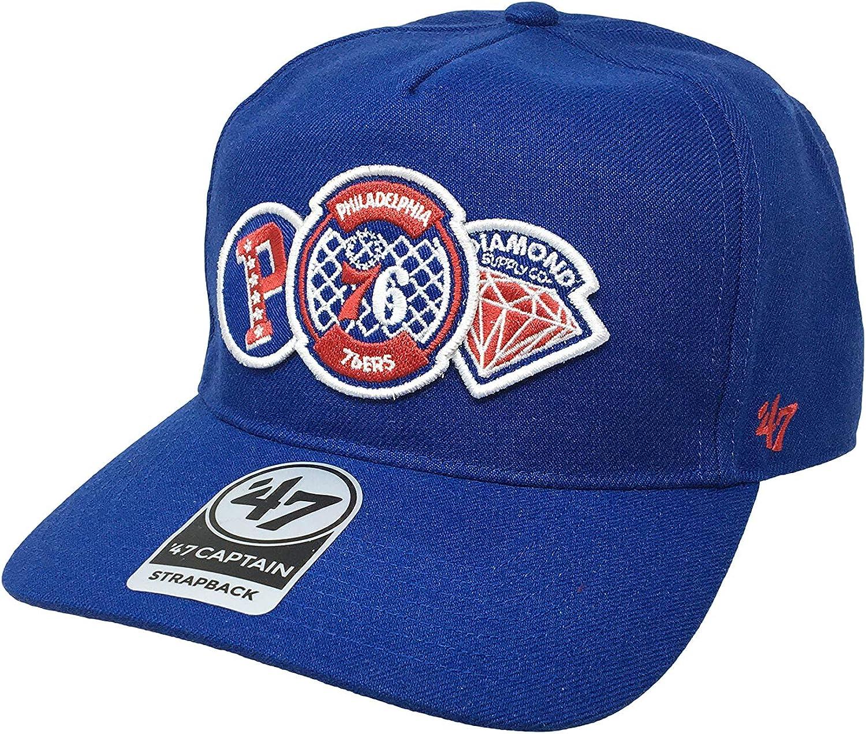47 Captain Philadelphia 76ers One Size Baseball Cap Flat Bill Hat
