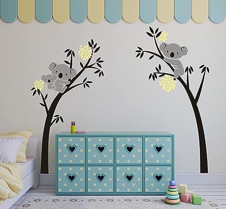 Vinilo Adhesivo para Pared amarillo Sayala Vinilo /Árbol con Family Koala Adhesivo Pegatinas Pared con Nursery Room Decoracion,Koala