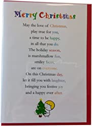 Merry Christmas - Cute Merry Christmas Luxury Greetings Cards by Clarabelle Cards 5 x 7 inches