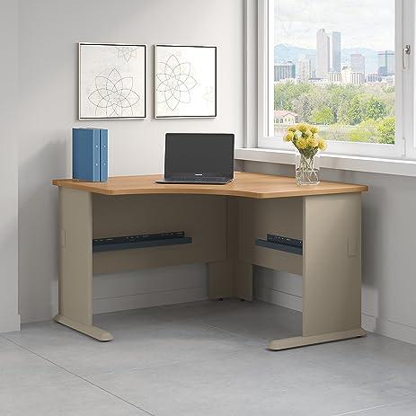 Series A 48W Corner Desk In Light Oak And Sage
