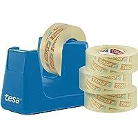 Tesa Easy Cut Smart Tafeldispenser 4 wielen. 33m:19mm cyaan/blauw