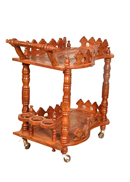 Artesia Designer Handmade Handcrafted Wooden Service/Bar Trolley