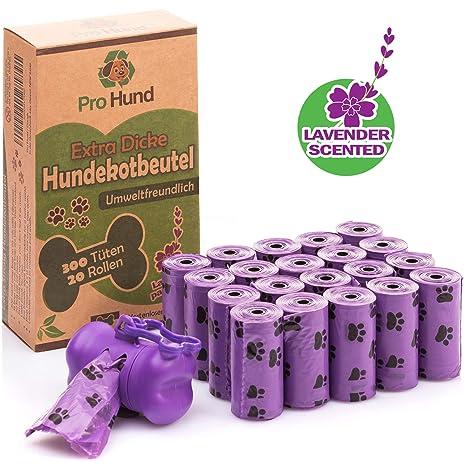 Pro Hund 300 bolsas Biodegradables para Excrementos de Perro ...