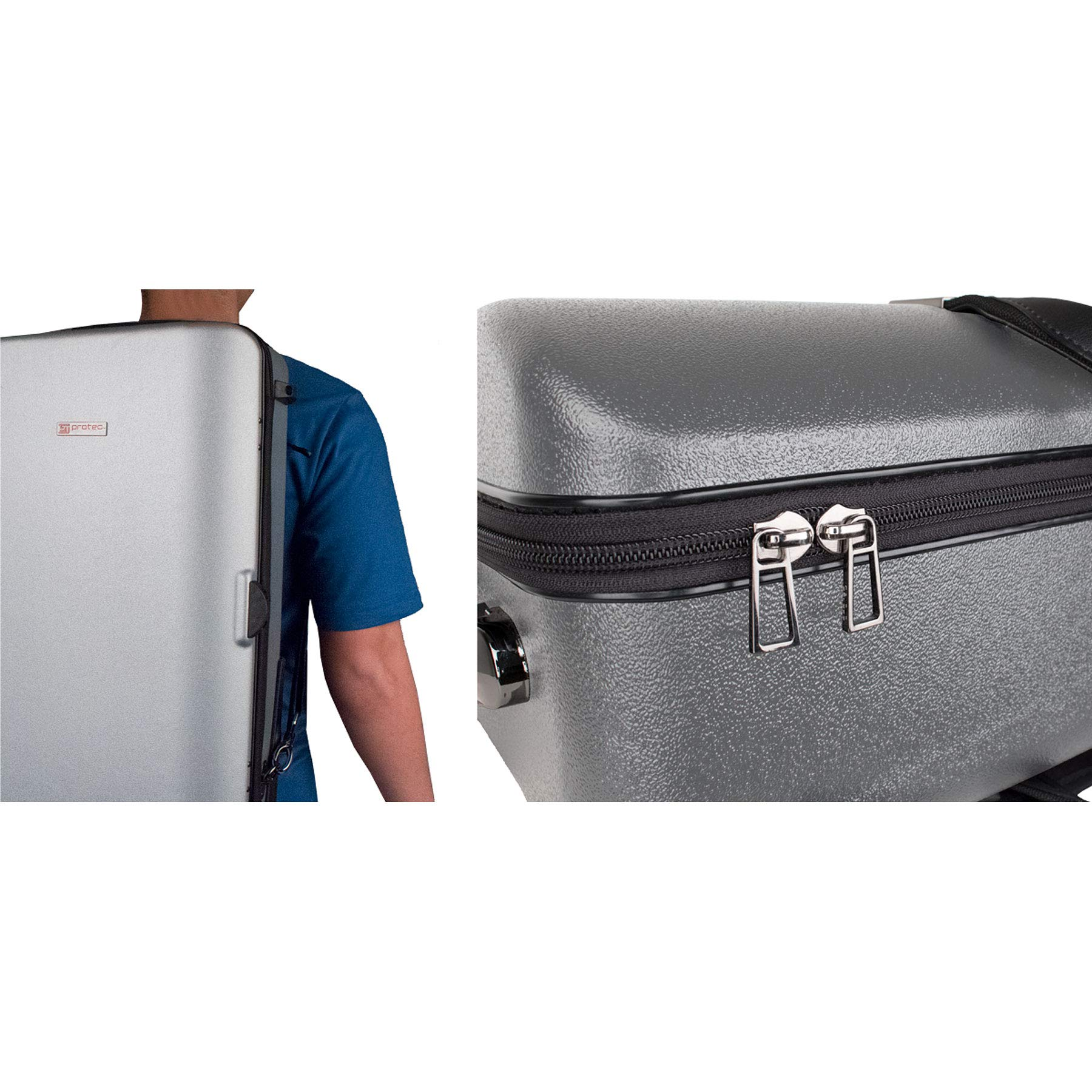 Protec Triple Trumpet Case with Wheels, Silver (BLT301TSX) by ProTec (Image #6)