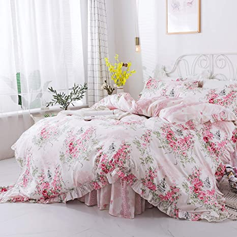 Vintage Flat Bed Sheet Child/'s Room Pink With White Scottie Dogs Shabby Cottage Cottage Chic 100/% Cotton Twin Bed Size