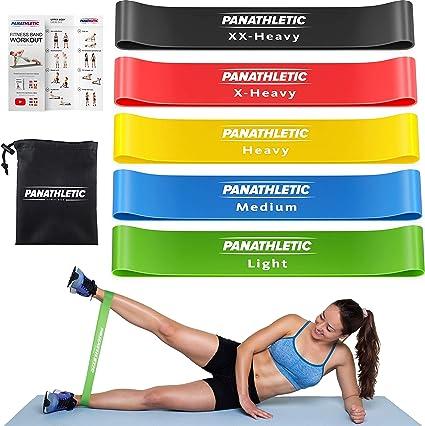 #1 Bandas elasticas de resistencia para hacer ejercicios con ligas de ejercicio#