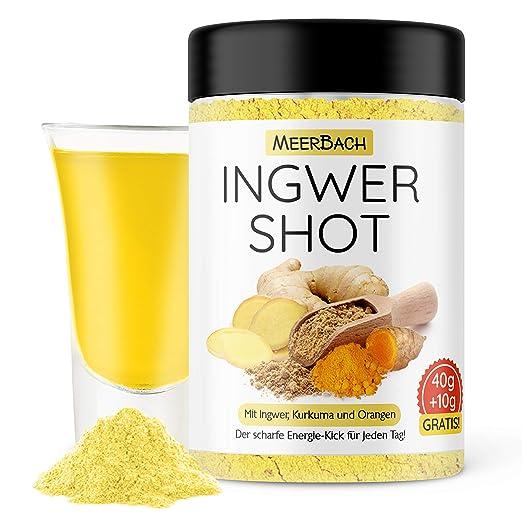 Ingwer Shot mit Vitamin C und Zink