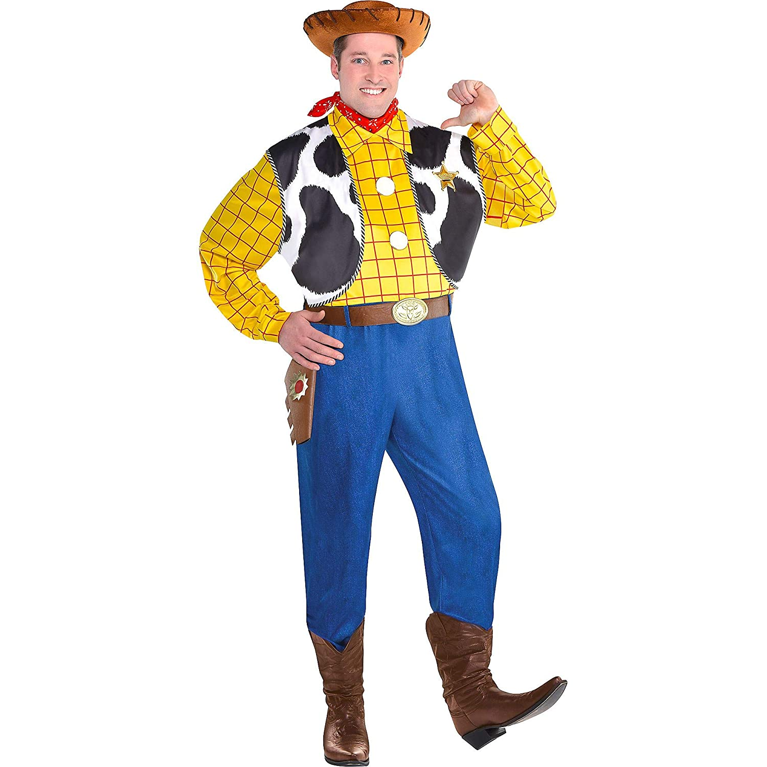 Amazon.com Party City Woody Halloween Costume for Men, Toy