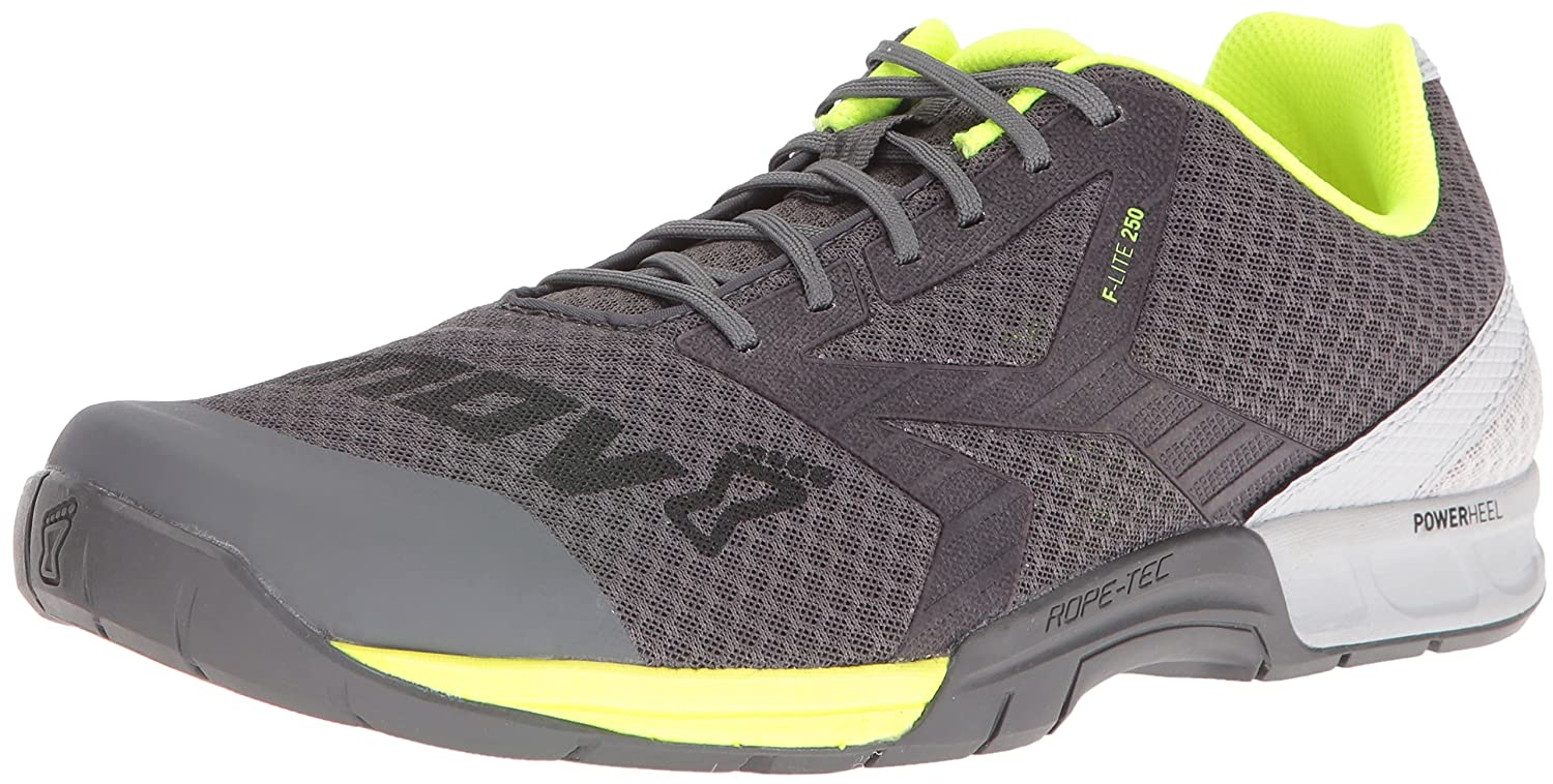 [Inov-8] メンズ 10 E US Grey/Neon Yellow B01G4YH6B6