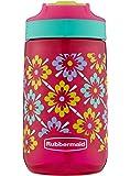 Rubbermaid Leak-Proof Sip Kids Water Bottle, 14 oz, Tiki Flowers Graphic