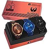 Armado AR-B1 B2 B3 Smart Stylish Watch for Men Combo of 3