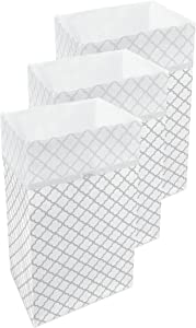 Clean Cubes 30 Gallon Disposable Sanitary Trash Cans & Recycling Bins, 3 Pack (Trellis)