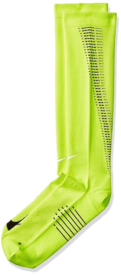 86003e389 Amazon.com: Nike Elite Running Lightweight Over the Calf Volt/Black/Black  Knee High Socks Shoes: Sports & Outdoors