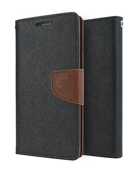 pretty nice 95283 602c6 CEDO® Mercury Magnetic Lock Wallet Style Flip Cover Case for Samsung Galaxy  J2(6)/J2 Pro J210 (Black & Brown)