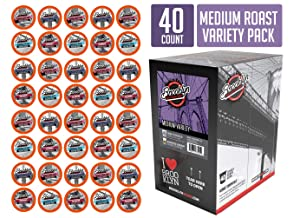 Brooklyn Beans Medium Roast Variety Pack Coffee Pods, Compatible with 2.0 K-Cup Brewers, 40 Count