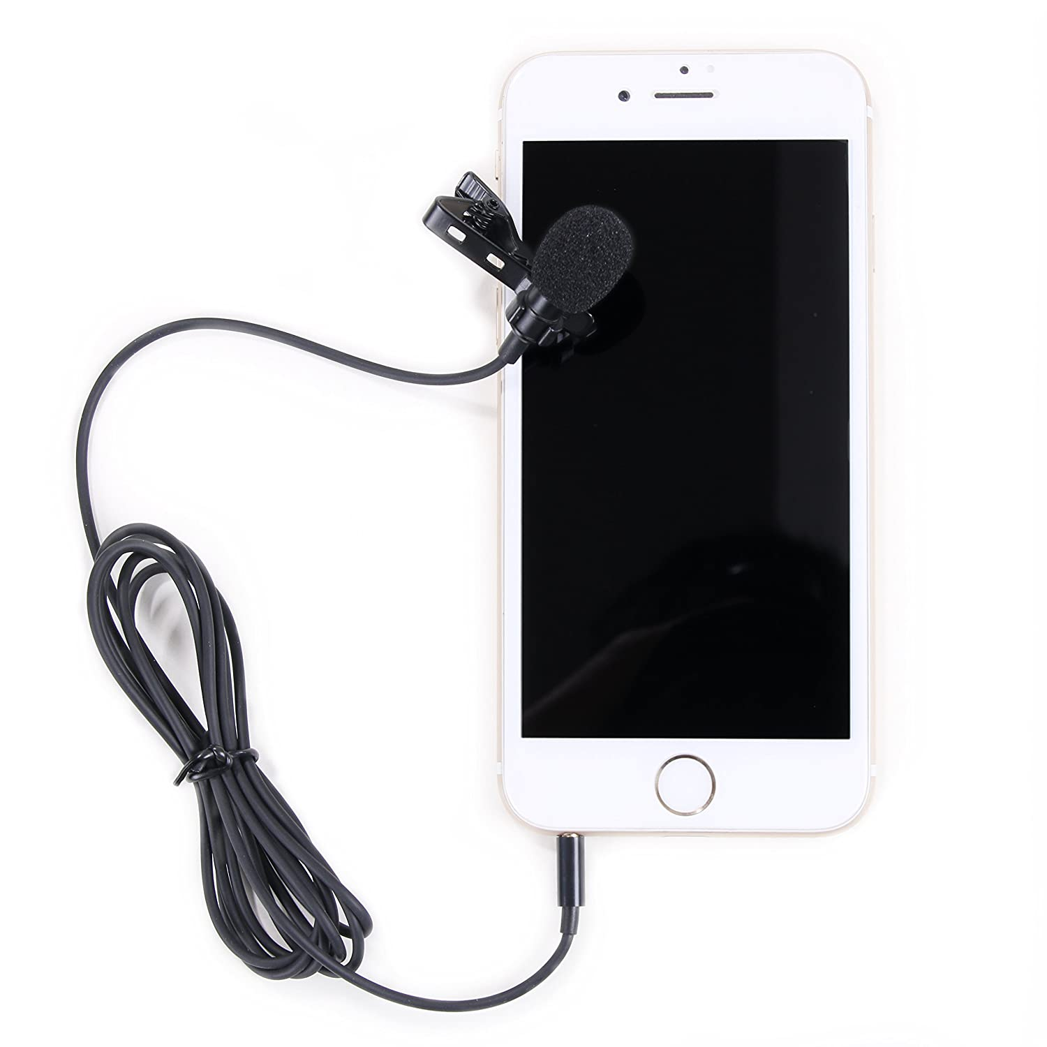 MUXMA Omnidirectional Professional Grade Lavalier Condenser Microphone- Easy Lapel Clip On System- Perfect Hands Free Recording for Youtube -is compatible with Apple iPhone and CTIA Compatible Device MXMC002-Lavalier-35