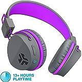 JLab Audio Neon Bluetooth Folding On-Ear Headphones | Wireless Headphones | 13 Hour Bluetooth Playtime | Noise Isolation | 40mm Neodymium Drivers | C3 Sound (Crystal Clear Clarity) | Graphite/Purple