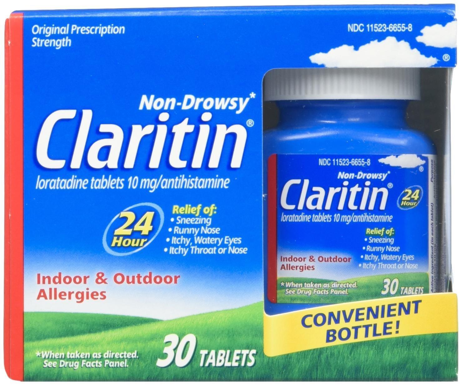 Claritin, Non-drowsy, Indoor & Outdoor Allergies, Antihistamine - 30 Tablets.