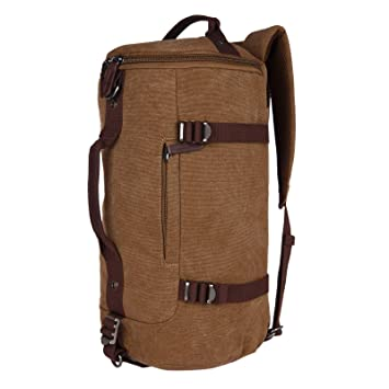 Image Unavailable. Image not available for. Colour  FUR JADEN Canvas Khaki Duffle  Travel Bag with Backpack Straps and Long Shoulder Strap 5910f62d21408