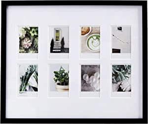 "AmazonBasics Photo Frame for use with Instax - 8-Opening - 3.25""x2"", Black"