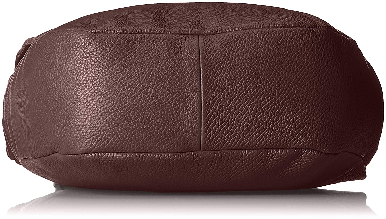 Mandarina anka dam Mellow Leather Tracolla axelväska, 11 x 28 x 30 cm Violett (vinskörd)