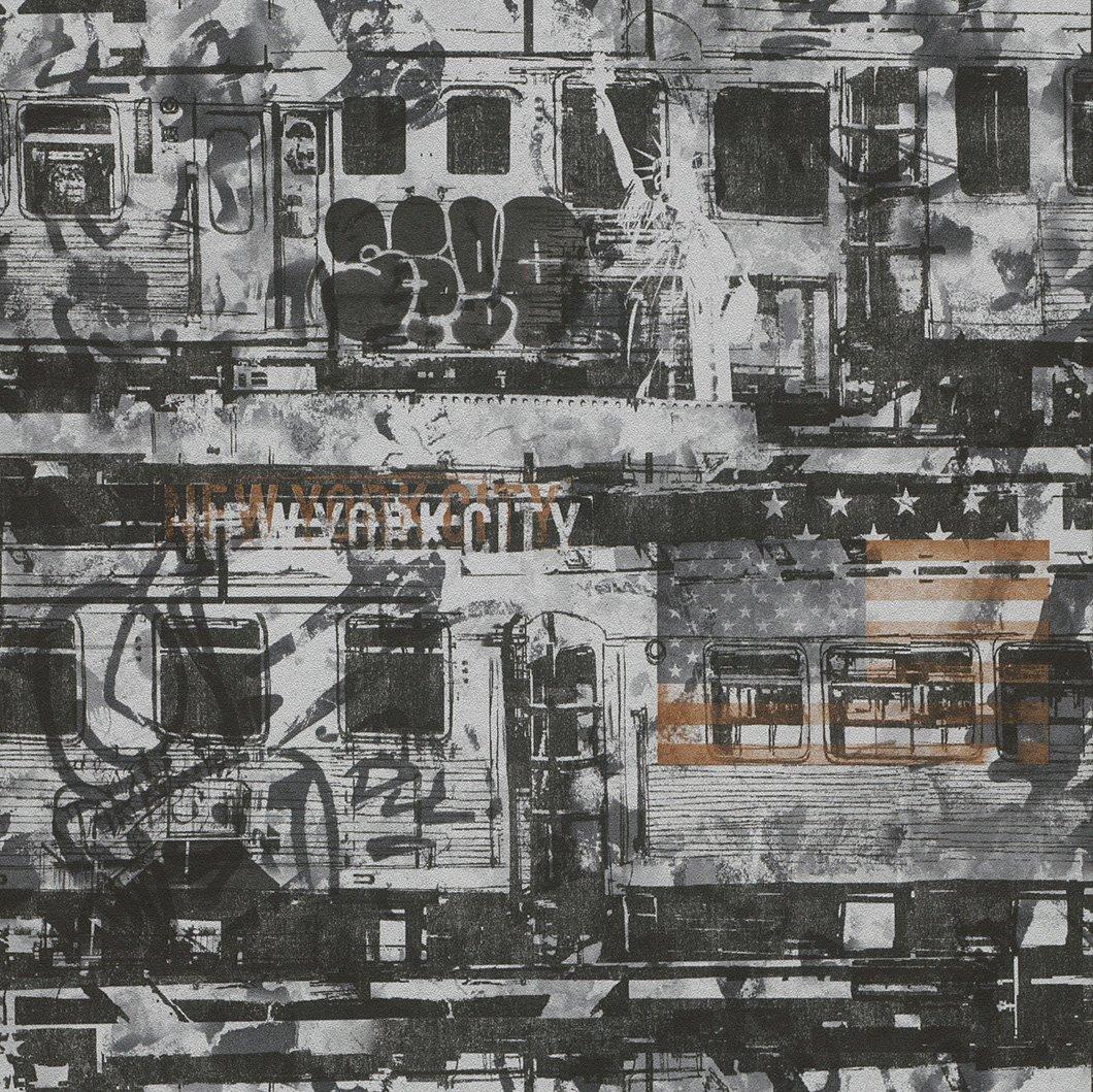 291339 - Kids & Teens II New York City Grey Silver Bronze Gold Galerie Wallpaper by Galerie