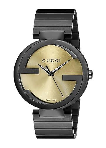 Gucci Interlocking Collection Black Stainless Steel Watch