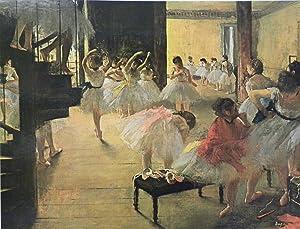 Edgar Degas - Ballet School, Size 18x24 inch, Poster Art Print Wall décor