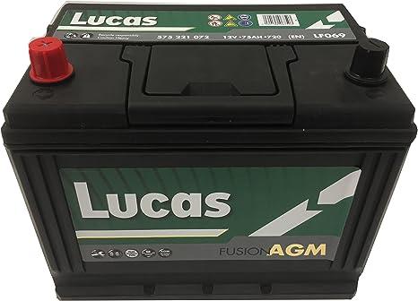 Batterie de démarrage Lucas Fusion AGM L3 LF096 12V 70Ah 760A