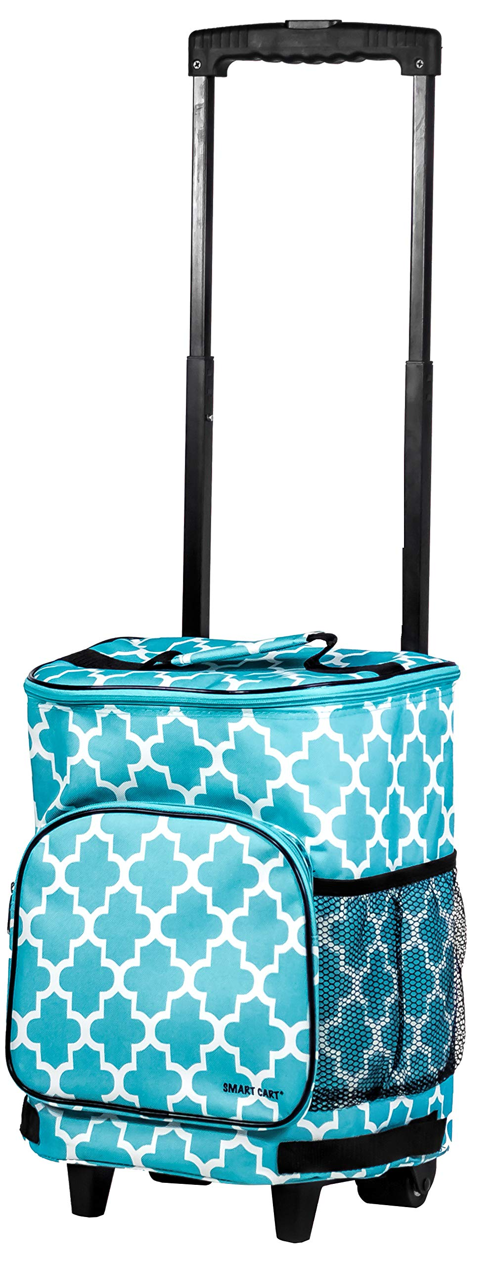 dbest products Ultra Compact Cooler Smart Cart, Moroccan Tile Insulated Collapsible Rolling Tailgate BBQ Beach Summer by dbest products