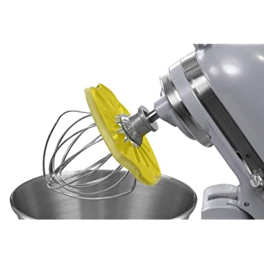 Whisk Wiper PRO for Stand Mixers - Mix Without The Mess - The Ultimate Stand Mixer Accessory - Compatible With KitchenAid Tilt-Head Stand Mixers - 4.5qt, 5qt (Color: Yellow)