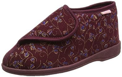Betsey, Zapatillas de Estar Por Casa para Mujer, Rojo-Red (Burgundy), 37 EU Dunlop