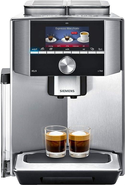 Siemens TI907201RW - Cafetera (Independiente, Máquina espresso, 2,3 L, Granos de café, De café molido, 1500 W, Acero inoxidable): Amazon.es: Hogar