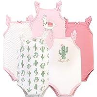 HUDSON BABY Unisex-Baby Sleeveless Bodysuits Sleeveless T-Shirt Set - red - 12-18 Months (18M)