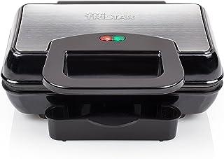 Tristar Edelstahl Hamburger Maker - antihaftbeschichtet mit integriertem Fettabtropfsystem, GR-2843